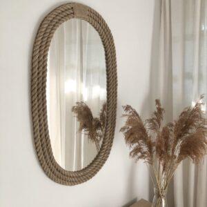 nautical ovalno ogledalo